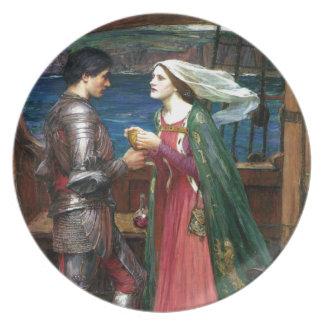 Tristan e Isolda de John William Waterhouse Platos De Comidas