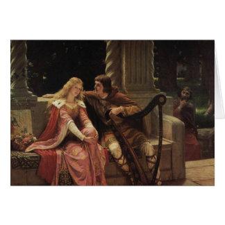 Tristan e Isolda, Edmund Blair Leighton, 1902 Tarjeta De Felicitación