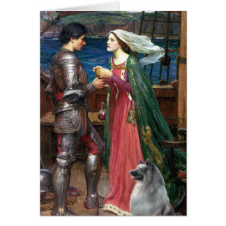 Tristan e Isolda - Keeshond (c) Tarjeta De Felicitación