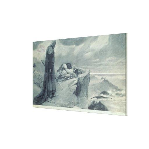 Tristan e Isolda Lienzo Envuelto Para Galerías