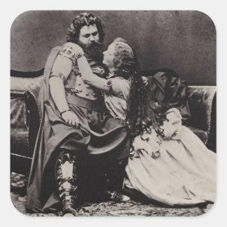 Tristan e Isolda Pegatina Cuadrada