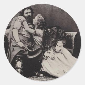 Tristan e Isolda Pegatina Redonda