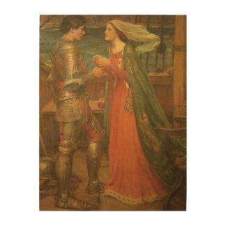 Tristan e Isolda por el Waterhouse, bella arte del Impresión En Madera