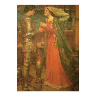 Tristan e Isolda por el Waterhouse, bella arte del Invitación 12,7 X 17,8 Cm