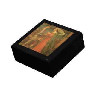 Tristan e Isolda por el Waterhouse, bella arte del Caja De Joyas