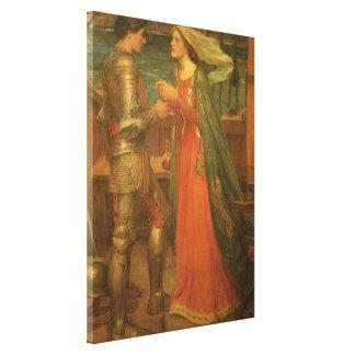 Tristan e Isolda por el Waterhouse, bella arte del Impresion De Lienzo
