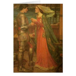 Tristan e Isolda por el Waterhouse, bella arte del Tarjeta De Felicitación