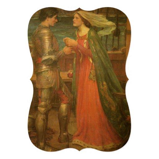Tristan e Isolda por el Waterhouse, boda del vinta Invitacion Personal