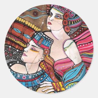 Tristan e Isolda - una historia de amor Pegatina Redonda