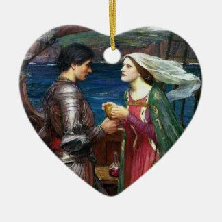 Tristan y ornamento de Isolda Adorno Navideño De Cerámica En Forma De Corazón