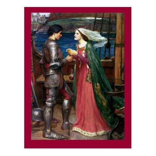 Tristan y postal de Isolda