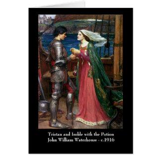 Tristan y tarjeta de felicitación de Isolda