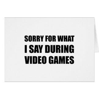 Triste diga los videojuegos tarjeta