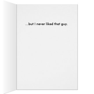 Triste falté su boda… tarjeta de felicitación