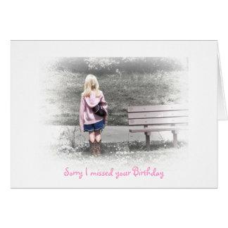 Triste falté su cumpleaños tarjeta de felicitación