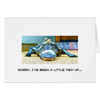 Triste, he sido implicado poco… tarjeta pequeña
