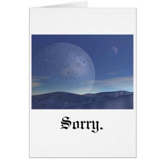 Triste, luna tarjeta de felicitación