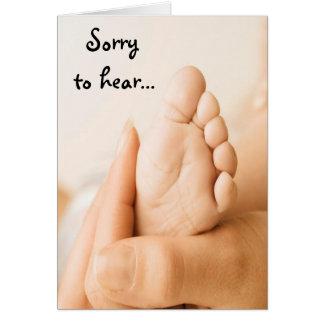 Triste oír la tarjeta del bebé