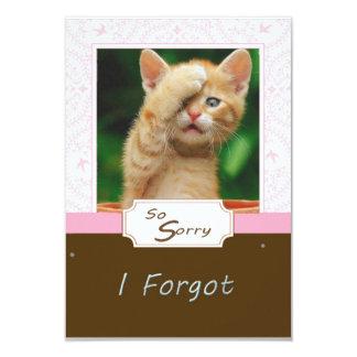 Triste olvidé tarjetas invitación 8,9 x 12,7 cm