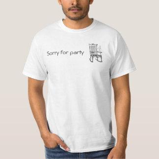 ¡Triste para la oscilación del fiesta! Camisetas