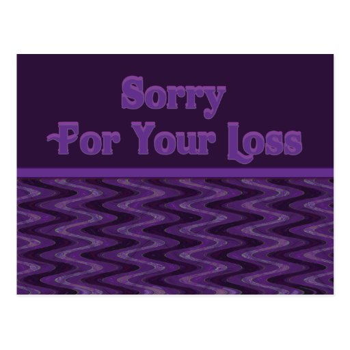 Triste para su pérdida postal