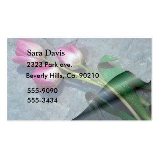 Triste para sus tulipanes del rosa de la pérdida tarjetas de visita