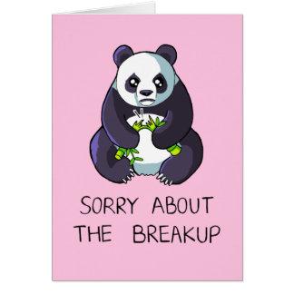 Triste sobre la tarjeta triste de la panda de la