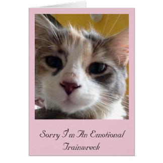 Triste soy una tarjeta de felicitación emocional
