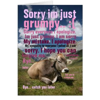 triste tarjeta de felicitación