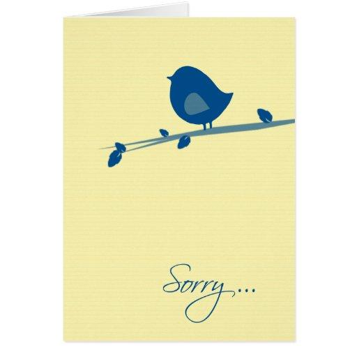 Triste usted no está sintiendo el Bien-Pájaro en r Felicitacion