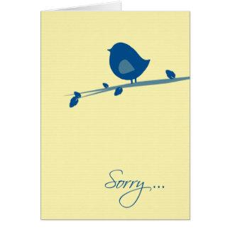 Triste usted no está sintiendo el Bien-Pájaro en Tarjeta De Felicitación