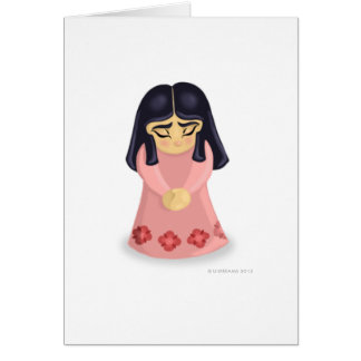 Triste (versión femenina) tarjeta de felicitación