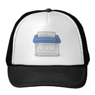 Trituradora de papel gorras