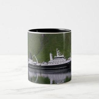 Triumph americano barco rastreador de fábrica taza de café