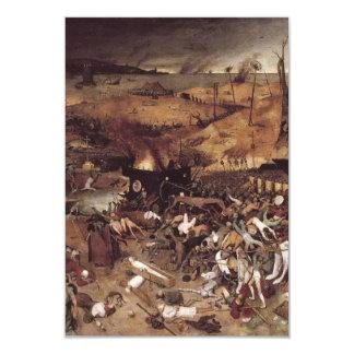 Triumph de la muerte de Peter Bruegel Invitación 8,9 X 12,7 Cm