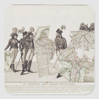 Triumph de los ejércitos franceses colcomanias cuadradas