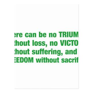 Triumph, victoria, libertad - diciendo postal