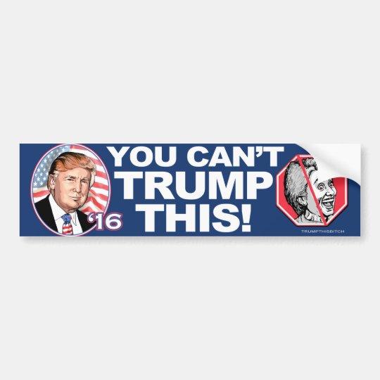 Triunfo 2016 esta Anti-Hillary Clinton Pegatina Para Coche