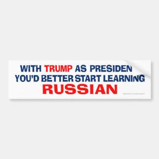 Triunfo como presidente - aprenda el ruso pegatina para coche