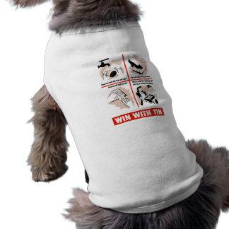 Triunfo con lata camiseta sin mangas para perro