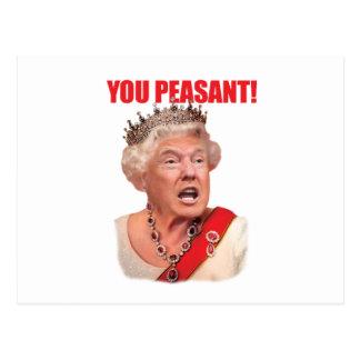 Triunfo de la reina de Donald Trump usted postal