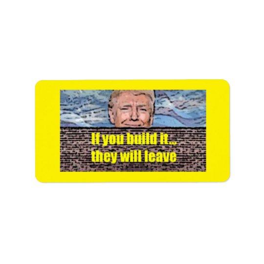 """Triunfo """"estructura que la pared"""" etiqueta etiqueta de dirección"""