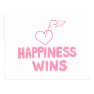 Triunfos de la felicidad postales
