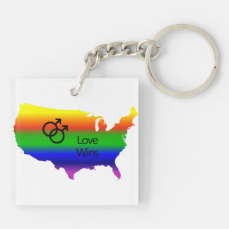 ¡Triunfos gay del amor! Llavero Cuadrado Acrílico A Doble Cara