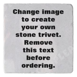 Trivet personalizado de la piedra de la foto. salvamanteles