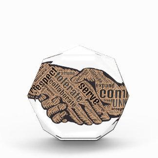 Trofeo Acrílico Apretón de manos
