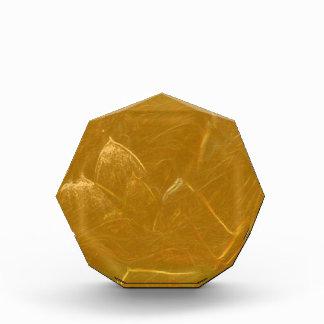 Trofeo Acrílico Arte artístico DE ORO de la hoja de oro de LOTUS