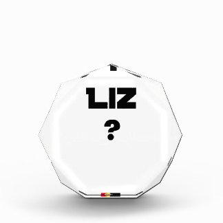 Trofeo Acrílico AUSTERA LIZ - Juegos de palabras - Francois Ville