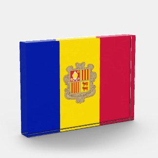 Trofeo Acrílico Bandera patriótica de Andorra