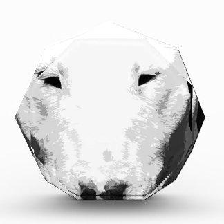 Trofeo Acrílico Bull terrier blanco y negro